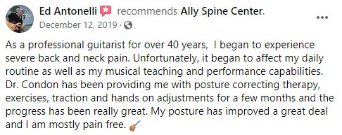 Chiropractic North Scottsdale AZ Patient Testimonial at Ally Spine Center